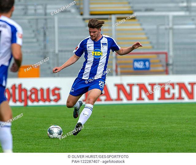 Florian Baak (Hertha BSC) GES / Football / KSC Blitz Tournament: SK Sturm Graz - Hertha BSC Berlin, 13.07.2019 Football / Soccer: Short time Tournament: Graz vs...