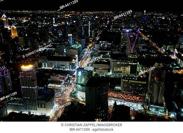 Bangkok skyline at night, Bangkok, Thailand