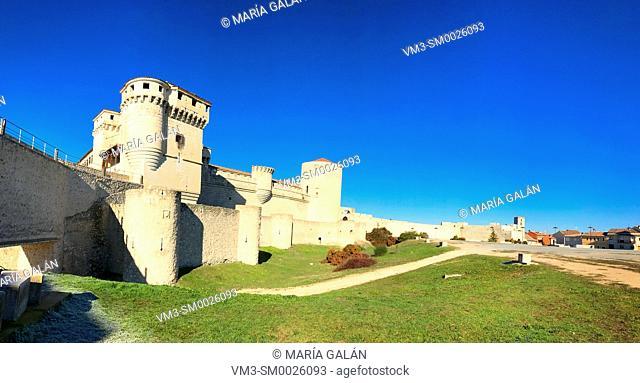 Medieval castle, panoramic view. Cuellar, Segovia province, Spain