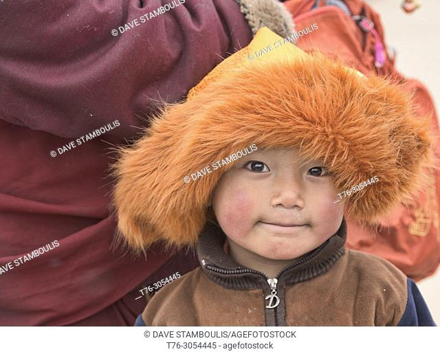 Tibetan boy, Yarchen Gar, Sichuan, China