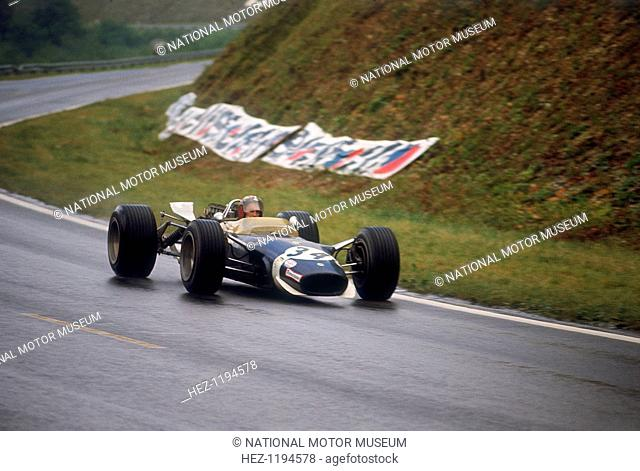 Jo Siffert's Lotus-Ford, French Grand Prix, Rouen, 1968. Swiss driver Siffert finished this race, which was marred by a fatal crash suffered by Jo Schlesser