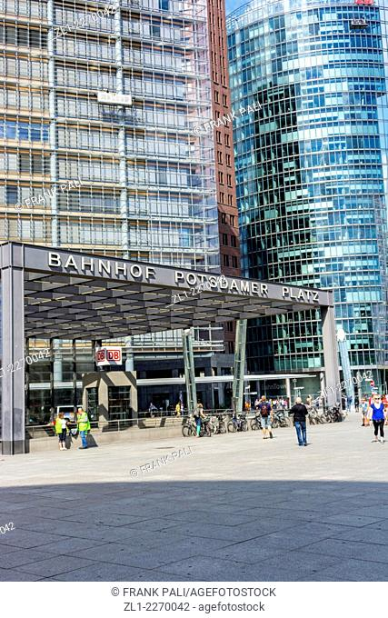 The Potsdamer Platz is the old heart of Berlin serving as a junction between the old city centre in East Berlin and what was formerly the new West Berlin