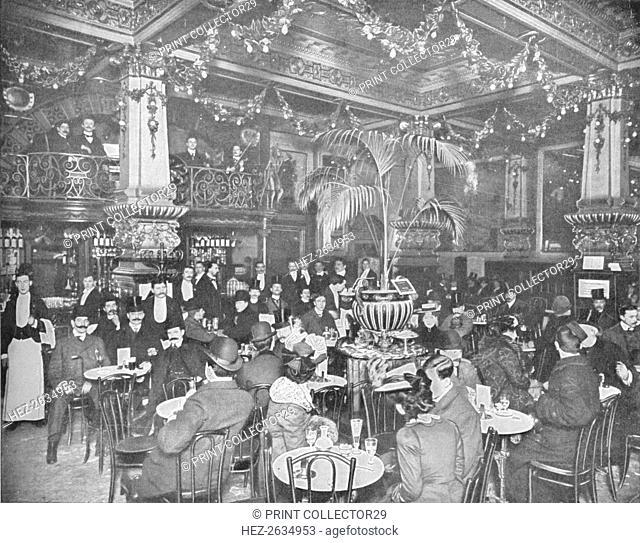 In the brasserie, Hotel de l'Europe, Leicester Square, London c1903 (1903). Artist: Unknown