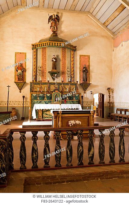 Church of Mission San Antonio de Padua, near Jolon, Fort Hunter Liggett Military Reservation, Monterey County, CA, USA, founded 1771 by Padres Junipero Serra