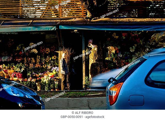 Flower stalls; Dr. Arnaldo Avenue; SP; Sao Paulo; Brazil