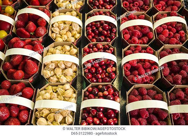 Canada, Quebec, Montreal, Little Italy, Marche Jean Talon market, autumn, berries
