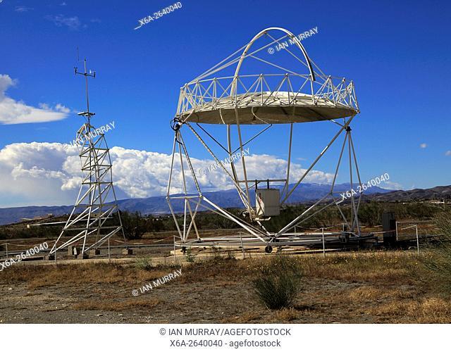 Solar energy research establishment near Tabernas, Almeria, Spain