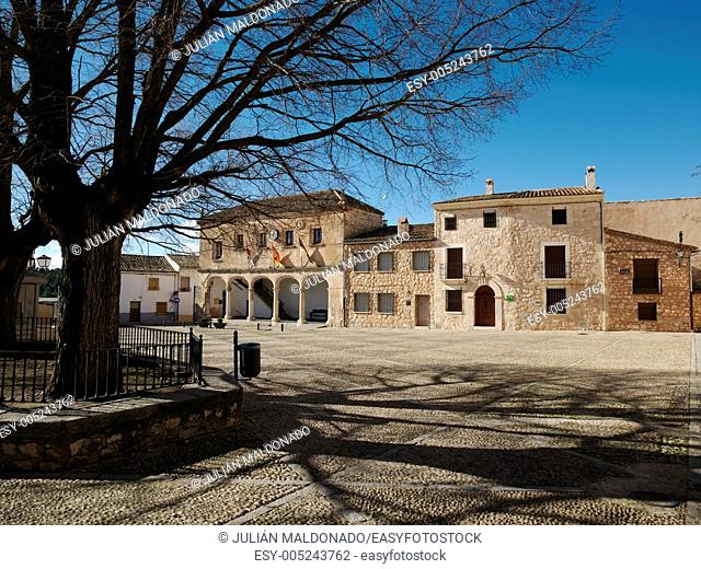 May Square in Alarcón, Cuenca, Castilla La Mancha, Spain