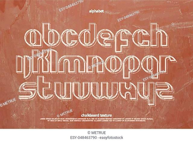 school, alphabet letters over chalkboard texture. vector font type design. classroom blackboard lettering symbols. hand drawn typesetting