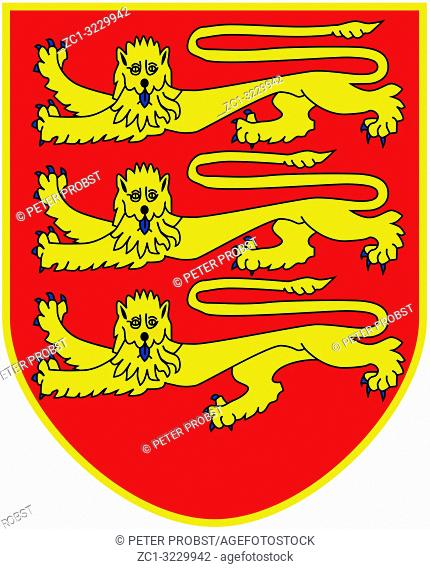 Coat of arms of the British Crown Dependency Jersey