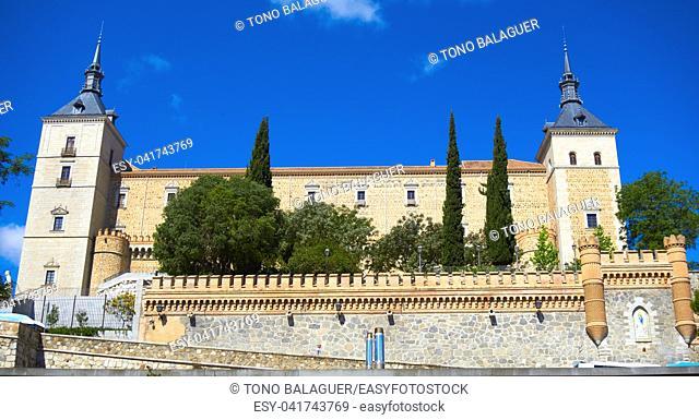 Alcazar de Toledo in Castile La Mancha of Spain