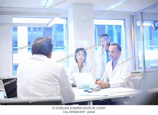 Group of doctors having discussion