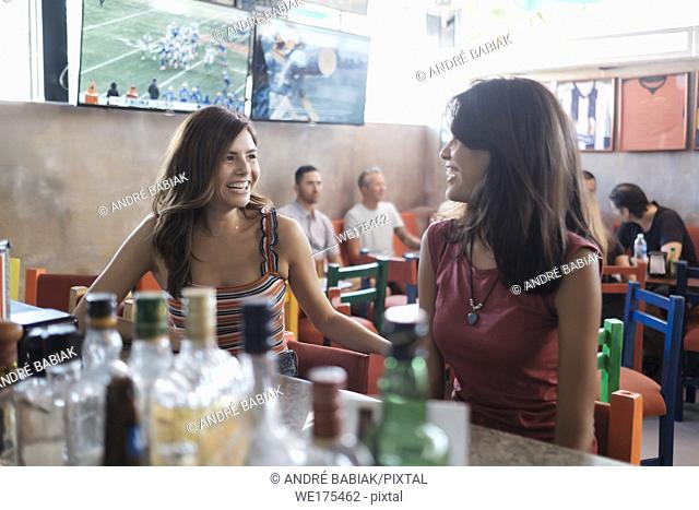 Sports Bar Scene with multiple people, lifestyle. Bucerias, Nayarit, Mexico