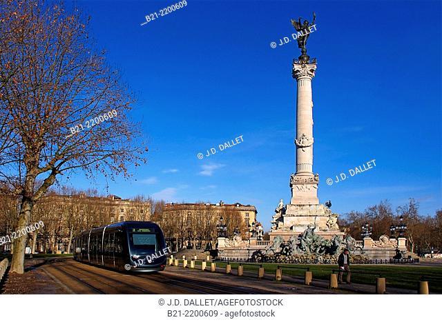 Place des Quinconces at Bordeaux, Gironde, Aquitaine, France