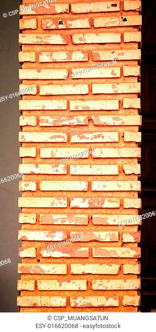 Walls made of brick, stone, sand and cement,