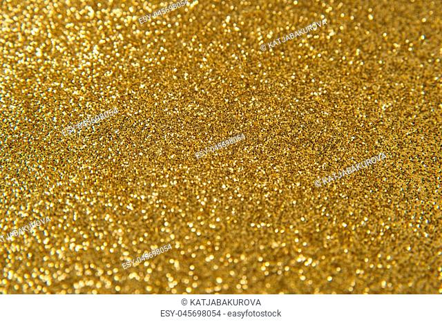Golden glitter texture for background