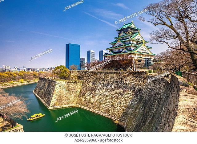 Japan,Kansai, Osaka City, Osaka Castle
