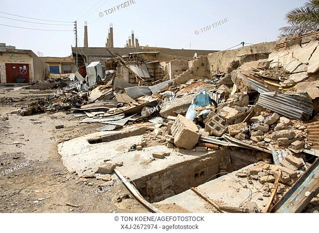 Jalawla, town in North Eastern Iraq being destroyed after heavy fighting between IS and Kurds/Militias