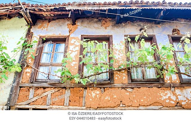View of historical house at Cumalikizik village,a popular destination for Tourists and locals in Bursa,Turkey