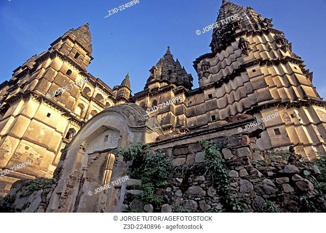 Chaturbhuj Temple, dedicated to Lord Vishnu. Orchha in Madhya Pradesh, India