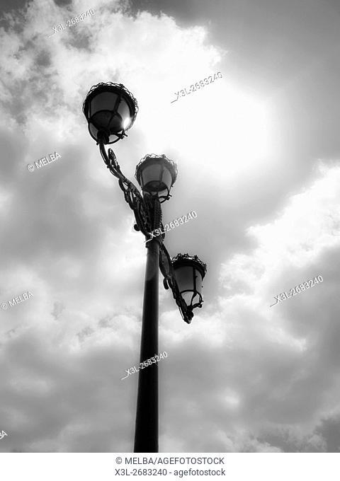 Streetlamp. Sevilla. Andalusia. Spain