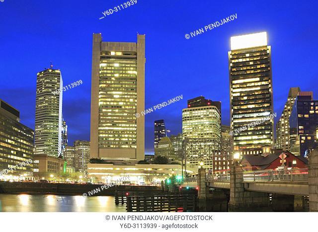 Boston in the Evening, Massachusetts, USA