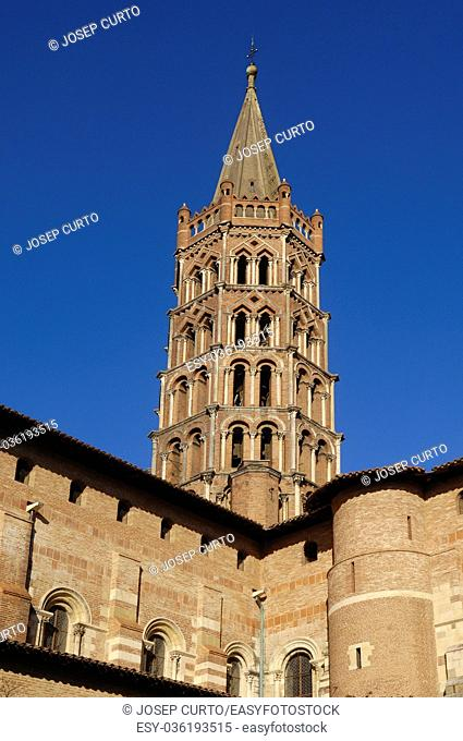 Basilica of Saint Sernin in Toulouse, France
