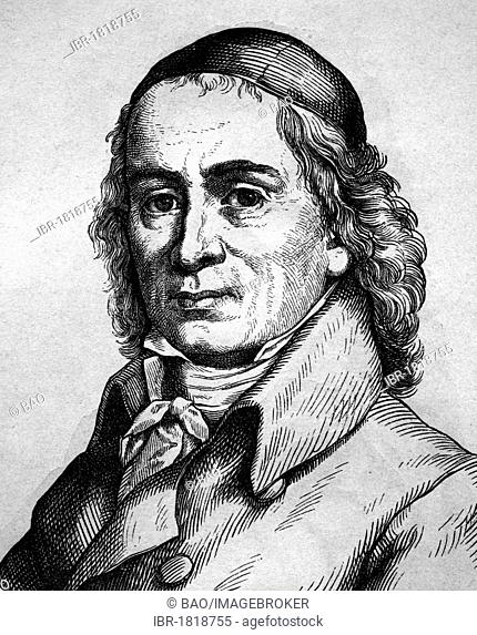 August Hermann Francke, theologian and hymn writer, 1663 - 1727, historical illustration, portrait, 1880