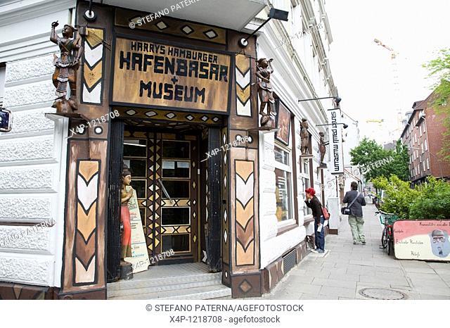 Harry's Hamburger Hafenbasar and Museum, St Pauli, Reeperbahn, Hamburg, Germany