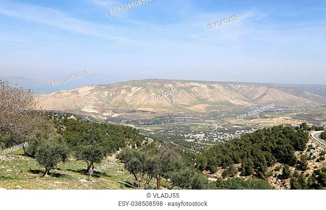 mountain landscape, Jordan, Middle East (photography from a high point)