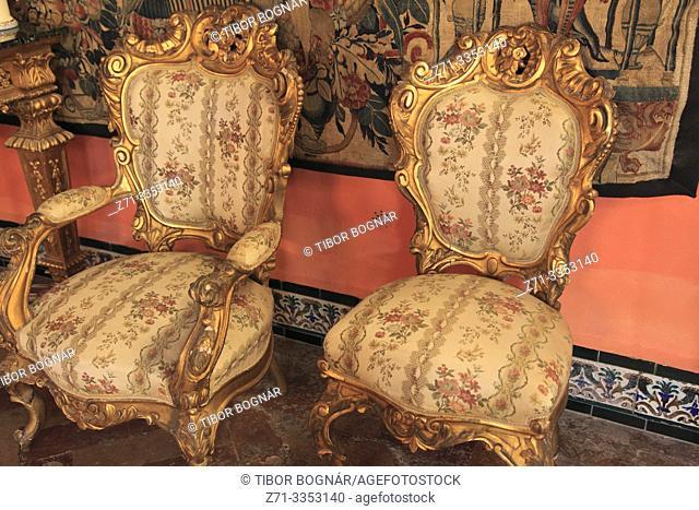 Spain; Andalusia; Seville; Palacio de las Duenas, palace,