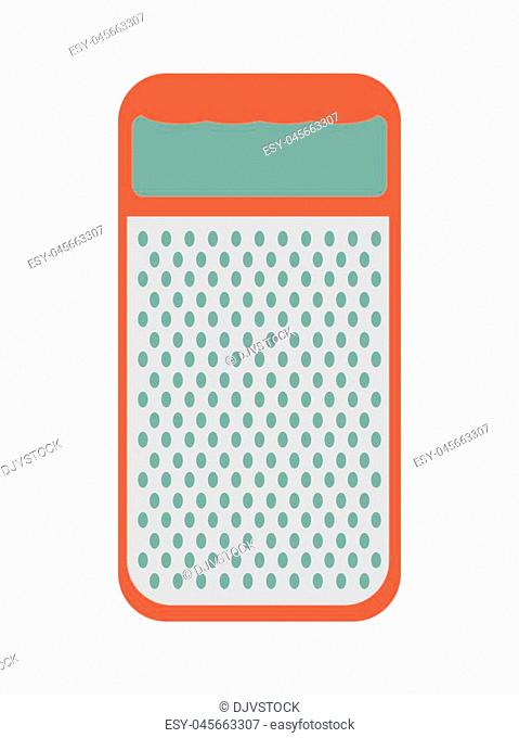Menu and kitchen represented by cheese grater icon over isolated and flat background