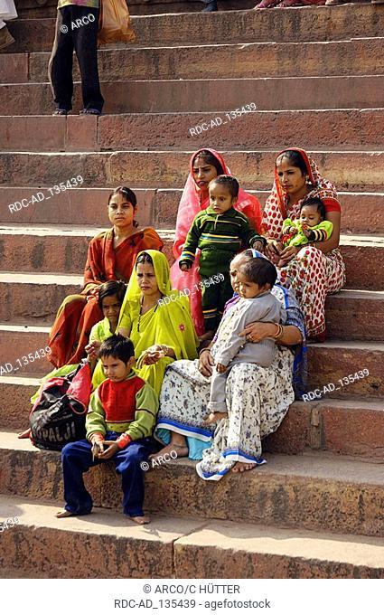 Indians at the Jami Masjid Mosque Fatehpur Sikri Uttar Pradesh India Dargah Mosque
