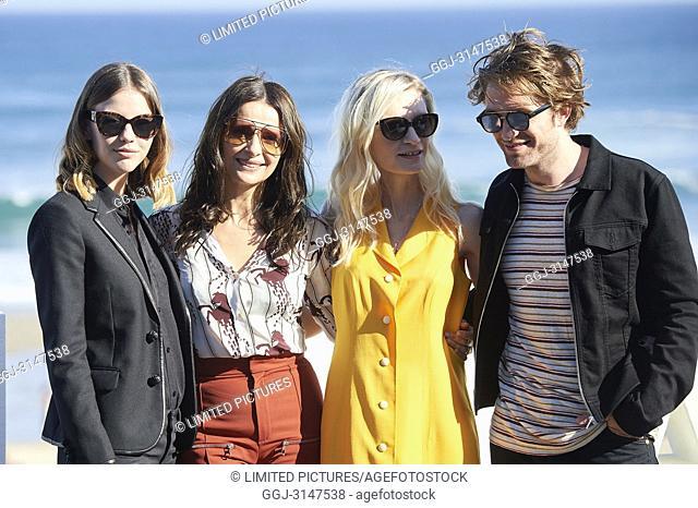 Robert Pattinson, Juliette Binoche, Mia Goth, Agata Buzek, Scarlett Lindsey, Claire Denis attended 'High Life' Photocall during the 66th San Sebastian...