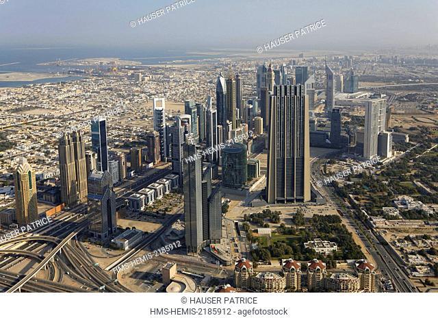 United Arab Emirates, Dubai, Sheikh Zayed Road, DIFC district
