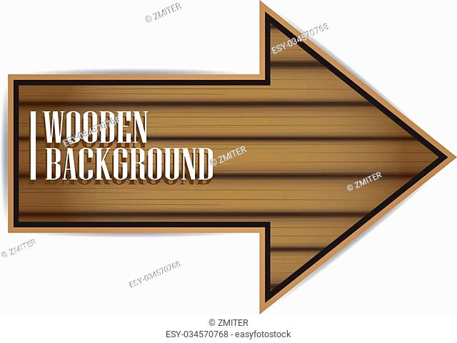 vector wooden background. vector wooden arrow or sign