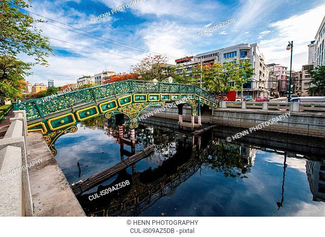 Footbridge over a channel, Bangkok, Thailand