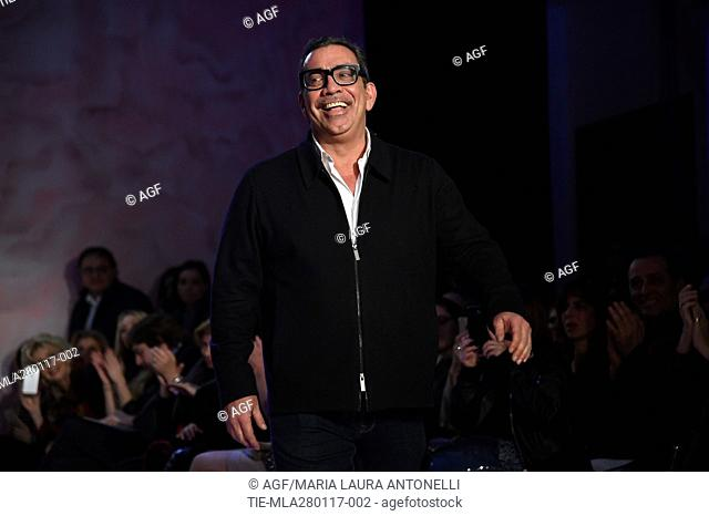 Guillermo Mariotto during the AltaRoma, in Rome, Italy, 27 January 2017. The fashion event runs from 26 to 29 January