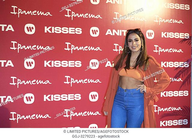 Brazilian Singer Anitta presents 'Ipanema' New Footwear Collection at Reina Sofia Museum on April 9, 2019 in Madrid, Spain