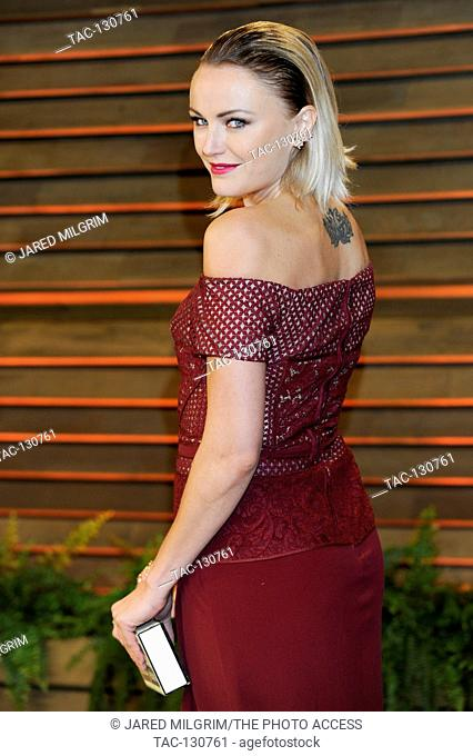 Malin Akerman attends the 2014 Vanity Fair Oscar Party on March 2, 2014 in West Hollywood, California