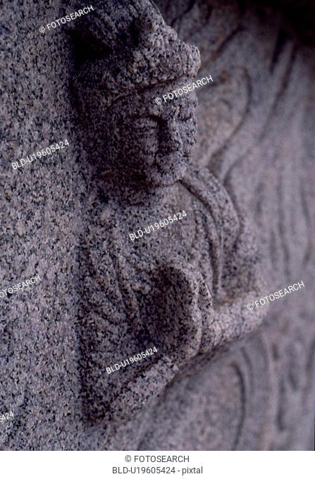 yangyang-gun, carving, naksansa, naksan temple, stone sculpture, korea, embossed sculpture