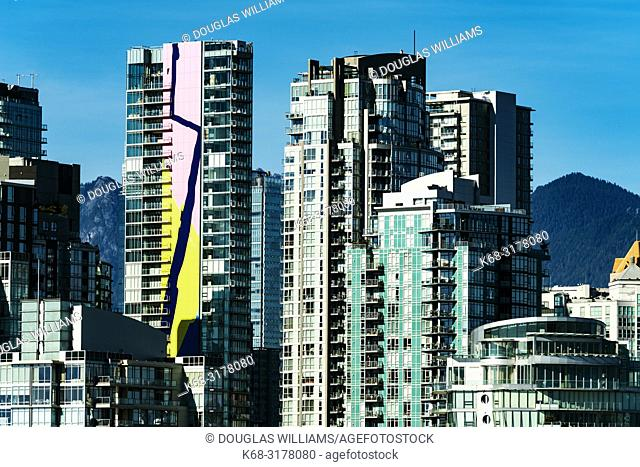downtown apartment buildings, Vancouver, BC, Canada