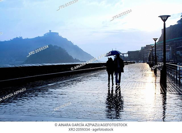 Rain in Donostia - San Sebastian, Basque Country