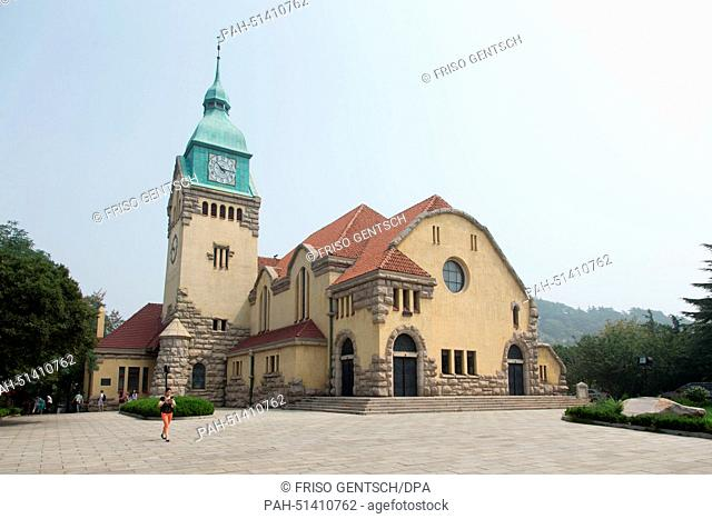 A view of the church bell tower and the German protestant 'Christuskirche' (church of christ) in China in Qingdao, China, 16 August 2014