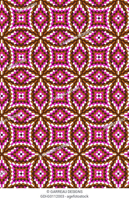 Pixilated mosaic design