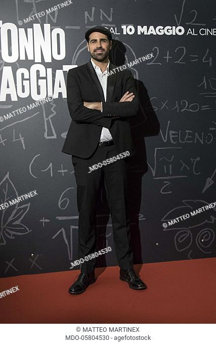 The italian director Matteo Martinez at the photocall of the film Tonno Spiaggiato, directed by Matteo Martinez with Frank Matano at the Cinema Anteo