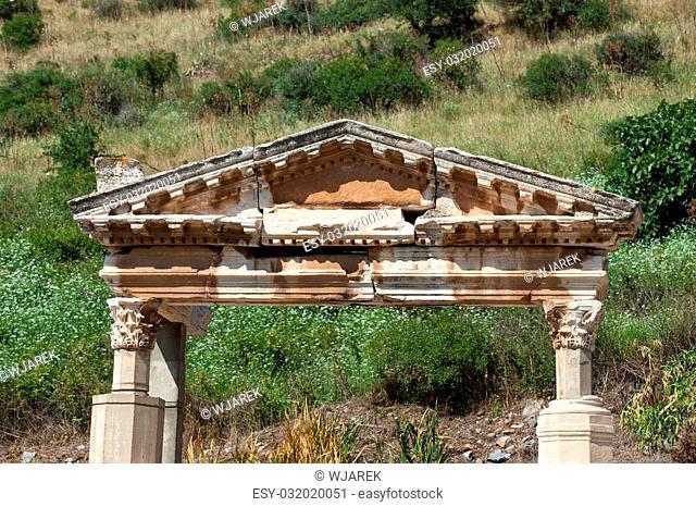 Fountain of Trajan in the ancient Greek city Ephesus