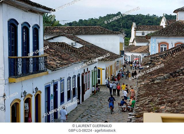 People, man, woman, trade, Historical Center, City, Paraty, Brazil