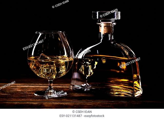 Glass with cognac