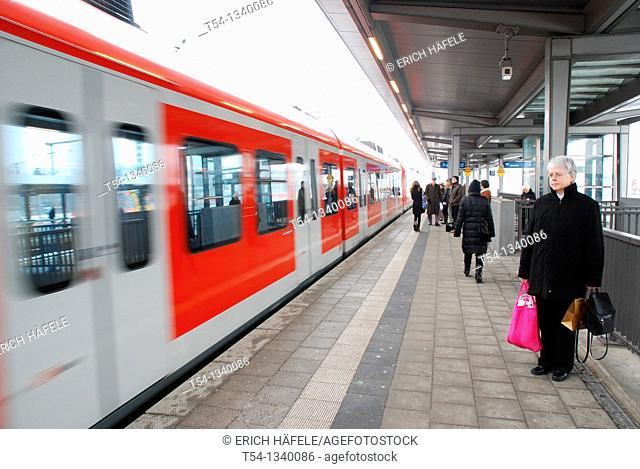 S8 Regional Train of Deutsche Bahn AG on the way to Munich Franz Josef Strauss Airport